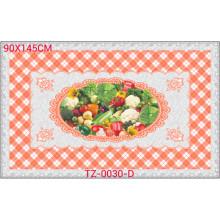 Hot populaire tout en une conception indépendante LFGB imprimé nappe transparente 90 * 145cm (TZ-0030B)