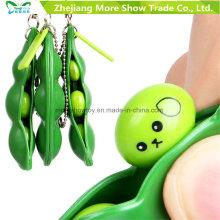 3 PCS Squeeze-a-Bean Soja Stress Alivio Llavero Fidget Juguetes