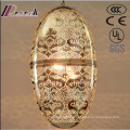 European Metal Painting Hollow Pendant Light with Dining Room