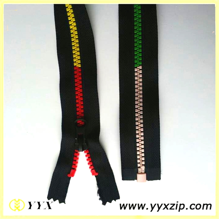 Sections Colored Zip Teeth #5 Plastic Rainbow Zipper