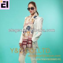 Impresión de la manera de la alta calidad de las mujeres toda la bufanda / mantón largos de marzo