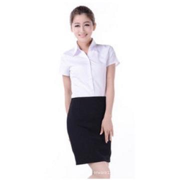 Benutzerdefinierte kleine Taille V-Neck Shirt, Business Langarm-Shirt