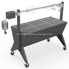 43 Inch Large Outdoor Charcoal Spit Roaster