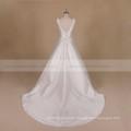 A Line Backless Princess Mikado Wedding Dress