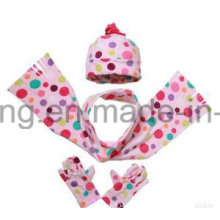 Customized Kid′s Knitting Winter Warm Polar Fleece Set