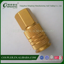 Brass nickel-plated hydraulic hose fitting adapter