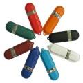 Diseño personalizado de cuero de la capacidad total de la unidad de la pluma