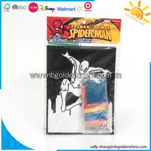 Spiderman Velvet Sand Art