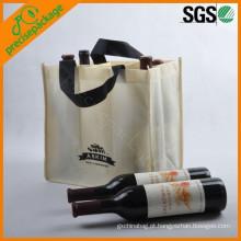 eco reciclado barato pp não tecido saco de transporte de garrafa de vinho