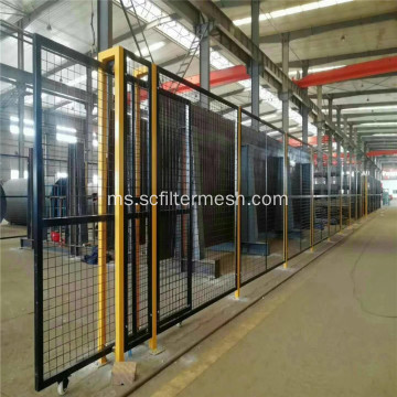 Pagar Wire Mesh Steel Welded Steel Coated Green