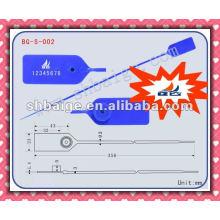 selo puxar-ágil BG-S-002 puxar selo apertado, marca de vedação, plástico tag selo de vedação, selos de segurança de plástico, puxar selo plástico apertado