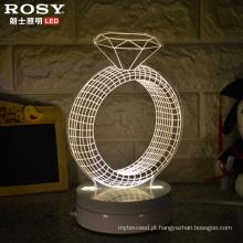 Natal/Halloween decorativa 3D lâmpada LED luz noturna