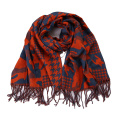 Womens Soft Cashmere Feel Alike Checked Stole Shawl Wraps Scarf (SP280)