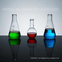 Vários tubos de ensaio de vidro médico