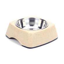 237g Cat/Dog Feeders, Round Bamboo Pet Bowls