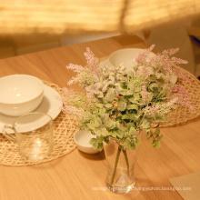 hoja de menta artificial verde barata de alta calidad para el centro de flores