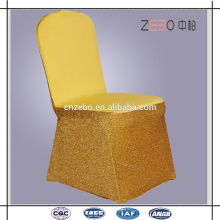 Hot Selling casamento ou banquete usado barato Sequin Spandex cadeira cobre