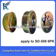 Auto ac embreagem polia 12v / 24v sanden508 6pk ac magnética embreagem auto polia de ar condicionado