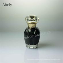 Botella de perfume de cristal de los pequeños vails de la forma de la flor
