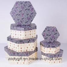 Коробка для хранения чемодана с подарочной коробкой для сердца или круглой бумаги