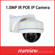 1.0MP Poe IP red al aire libre IR cámara de seguridad CCTV