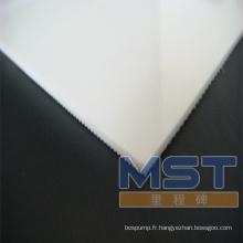 Bande transporteuse en PVC blanc de 3,0 mm