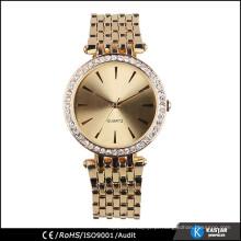 Relógio de diamante de moda para mulheres