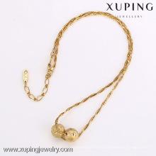 42135-Xuping generoso estilo de la moda 18K oro moldeado collar de la joyería