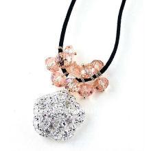 Collier design à la mode avec perles rondelles