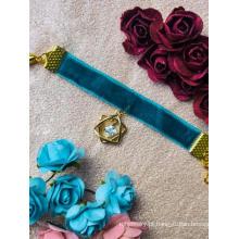 Colar gargantilha azul BJD para boneca articulada SD / 70 cm