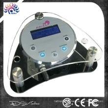 De alta calidad de control digtal de acrílico de maquillaje permanente fuente de alimentación del tatuaje