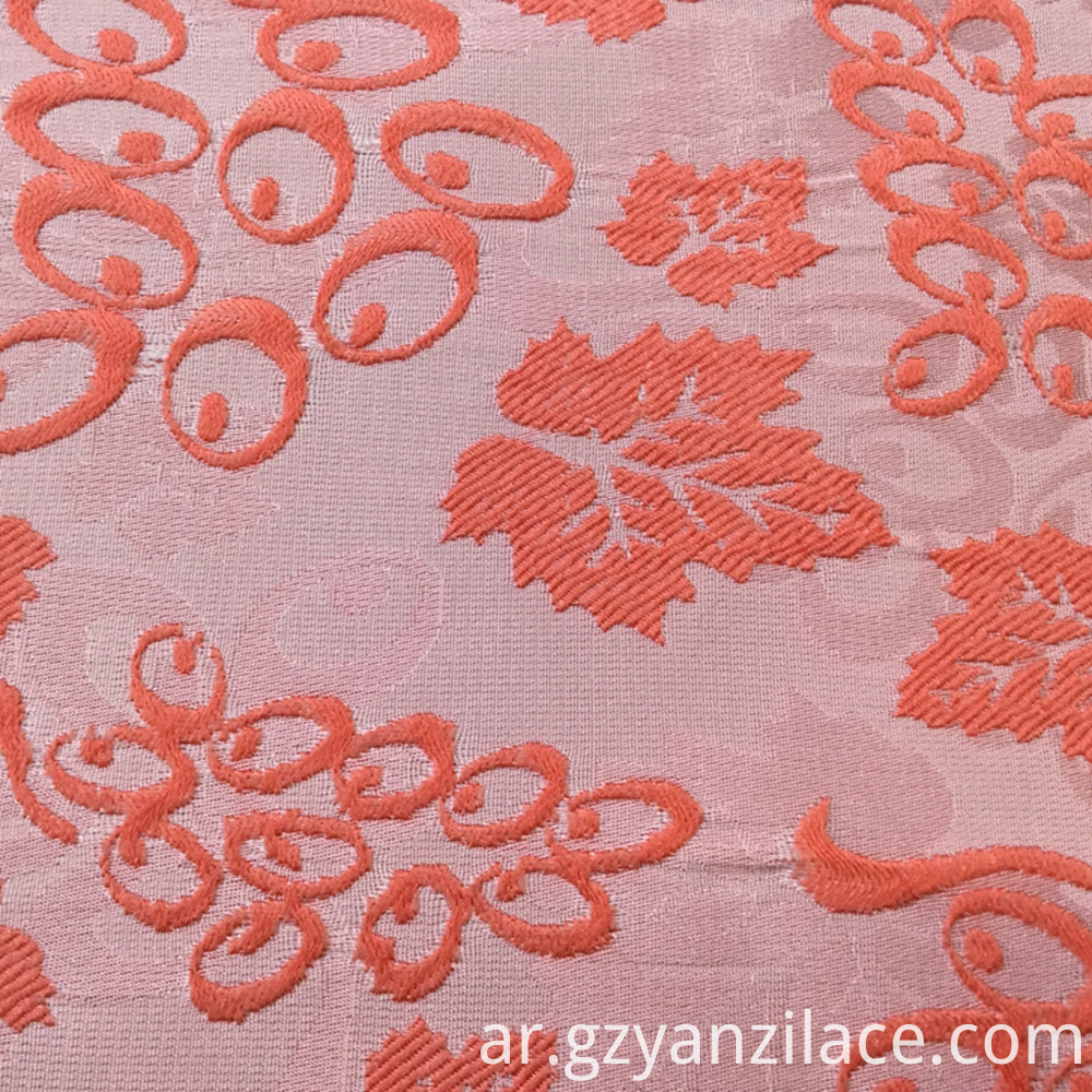 Flower Silk Jacquard Fabric