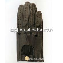 punk sheepskin basic style no lining leather biker leather gloves