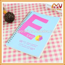 Caderno personalizado profissional de propaganda de estrela de hallyu, cadernos personalizados com espiral