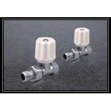 radiator valve straight with brass material