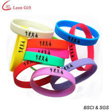 Hot Sale Colorful Club Silicone Bracelet for Gift (LM1627)