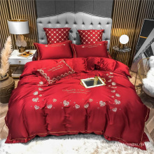 Hotel Supplys Fashion Style Deep Pocket Bed Sheet Cotton for Double Bed