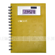 Medium Size 8 Digits Notebook Calculator with PVC Front Cover (LC563B)