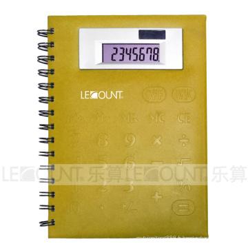 Calculateur ordinateur portable à taille moyenne de 8 chiffres avec couvercle avant en PVC (LC563B)