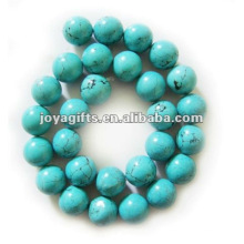 14mm granos de joyería de piedra de turquesa redonda