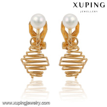 91935 Fashion Elegant 18k Gold-Plated Imitation Jewelry Earring with Pearl