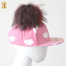 Handgefertigte Cotton Cap Top Grade Hut mit Pompom Baumwolle Sport Cap