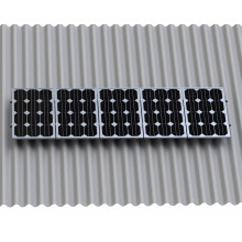 Corrugated Sheet Solar L Feet Kit Solar Panel Mounting Structure Design