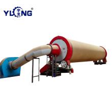 Secador de serragem de madeira rotativa de tambor Yulong