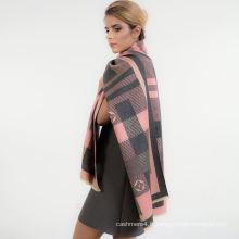 Écharpe de châle en coton à la mode en gros couleur unie foulard sergé doux châle