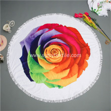 Custom 180cm Printed Chamois Round Beach Towel