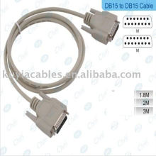 DB15 Serial Cable Port Male Male Beige 1: 1 Straight