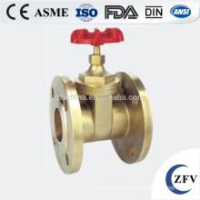 Venta caliente fábrica precio dn15-150 cobre amarillo válvula de compuerta de vástago de levantamiento