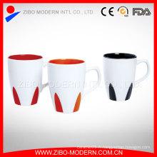Vente en gros de tasse de café en céramique de 18 oz couleur promotionnelle en gros