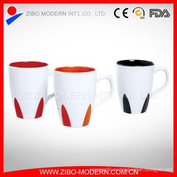 Color promocional 18oz al por mayor dentro de la taza de café de cerámica